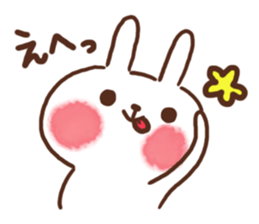 lovey-dovey rabbits sticker #9705797