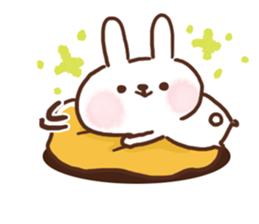 lovey-dovey rabbits sticker #9705800