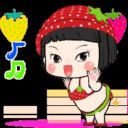 สติ๊กเกอร์ไลน์ Khing Khing Strawberry