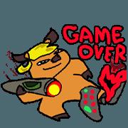 สติ๊กเกอร์ไลน์ Buff Game Boy