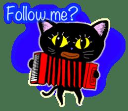 jazz cat sticker #9742716