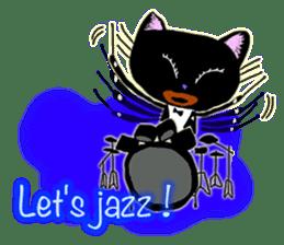 jazz cat sticker #9742719