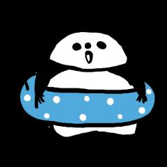 Kansai accent sticker of a panda