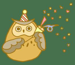 Lovely owls sticker #9752822