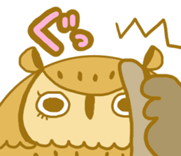 Lovely owls sticker #9752825