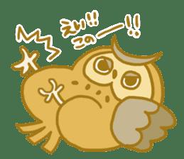 Lovely owls sticker #9752845