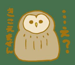 Lovely owls sticker #9752846
