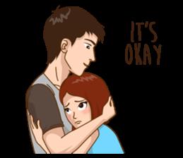 Romantic Couple In Love By Segocha Sticker 9760424