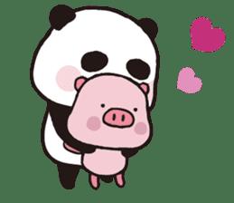 Sweet Panda & Honey Pig (3) by Ellya sticker #9760657