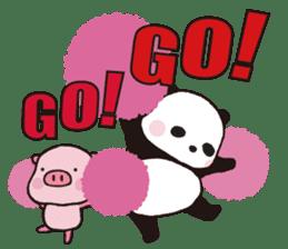 Sweet Panda & Honey Pig (3) by Ellya sticker #9760667