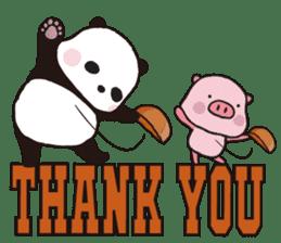 Sweet Panda & Honey Pig (3) by Ellya sticker #9760670