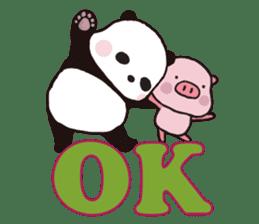 Sweet Panda & Honey Pig (3) by Ellya sticker #9760680