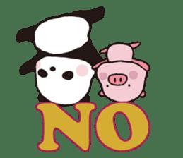 Sweet Panda & Honey Pig (3) by Ellya sticker #9760681