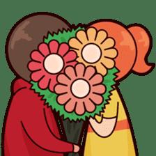 Cute couple in love sticker #9765456