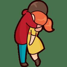 Cute couple in love sticker #9765459