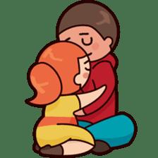 Cute couple in love sticker #9765461
