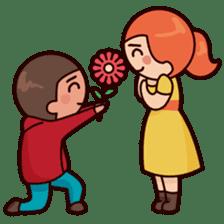 Cute couple in love sticker #9765464