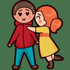 Cute couple in love sticker #9765465