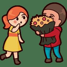 Cute couple in love sticker #9765466