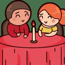 Cute couple in love sticker #9765467