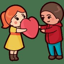Cute couple in love sticker #9765468