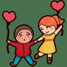 Cute couple in love sticker #9765469
