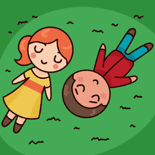 Cute couple in love sticker #9765471