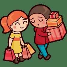 Cute couple in love sticker #9765473