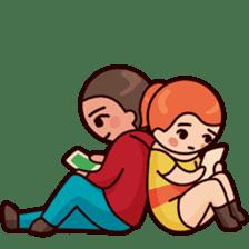 Cute couple in love sticker #9765475