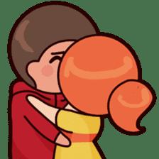 Cute couple in love sticker #9765481