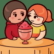 Cute couple in love sticker #9765486