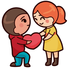 Cute couple in love sticker #9765491