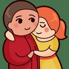 Cute couple in love sticker #9765492