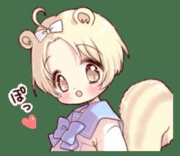 Boy of a squirrel sticker #9766191