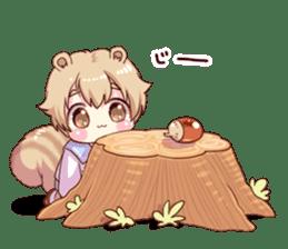 Boy of a squirrel sticker #9766199
