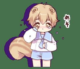 Boy of a squirrel sticker #9766201