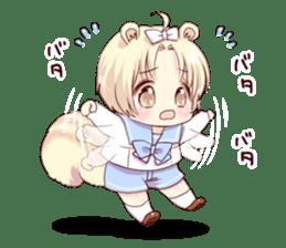 Boy of a squirrel sticker #9766204