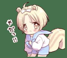 Boy of a squirrel sticker #9766206