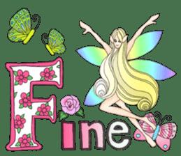 Butterfly-fairy sticker #9768989