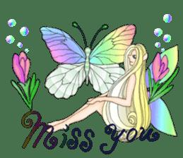 Butterfly-fairy sticker #9768992