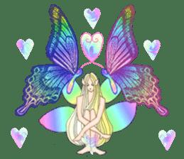 Butterfly-fairy sticker #9769004