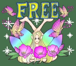 Butterfly-fairy sticker #9769005