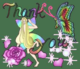 Butterfly-fairy sticker #9769011