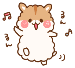 fluffy hamster2 sticker #9779060