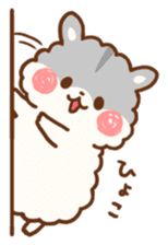 fluffy hamster2 sticker #9779065