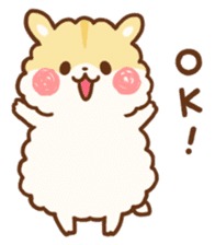 fluffy hamster2 sticker #9779066