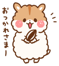 fluffy hamster2 sticker #9779068