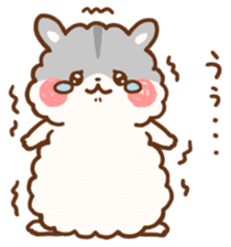 fluffy hamster2 sticker #9779073