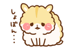 fluffy hamster2 sticker #9779074