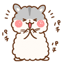 fluffy hamster2 sticker #9779077